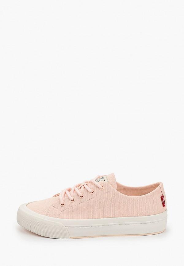 женские низкие кеды levi's®, розовые