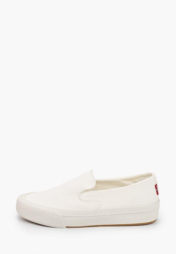 женские низкие слипоны levi's®, белые