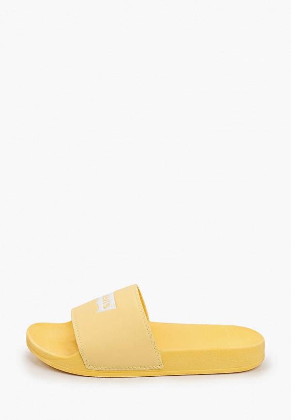женские сланцы levi's®, желтые