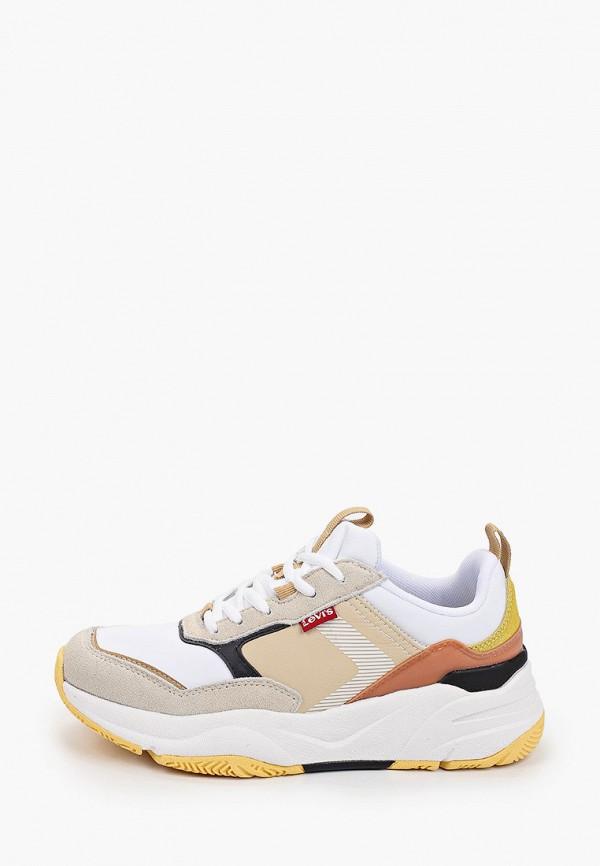 женские кроссовки levi's®, бежевые