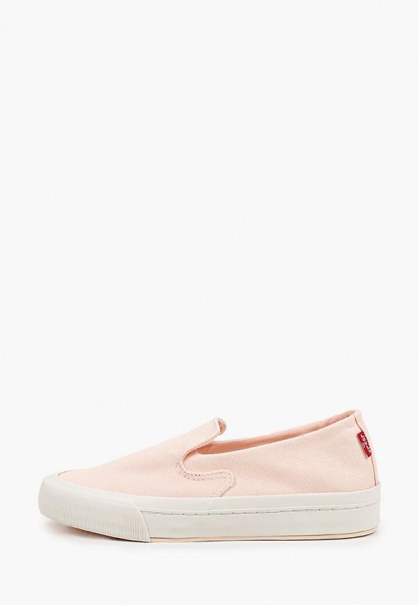 женские низкие слипоны levi's®, розовые