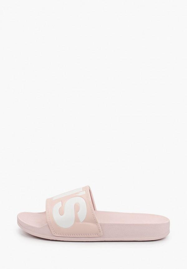 женские сланцы levi's®, розовые