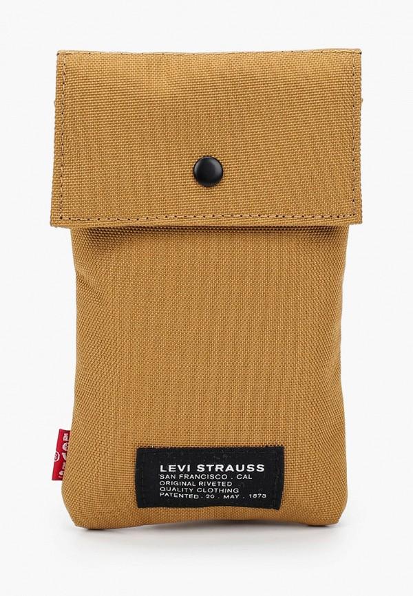 мужская сумка через плечо levi's®, коричневая