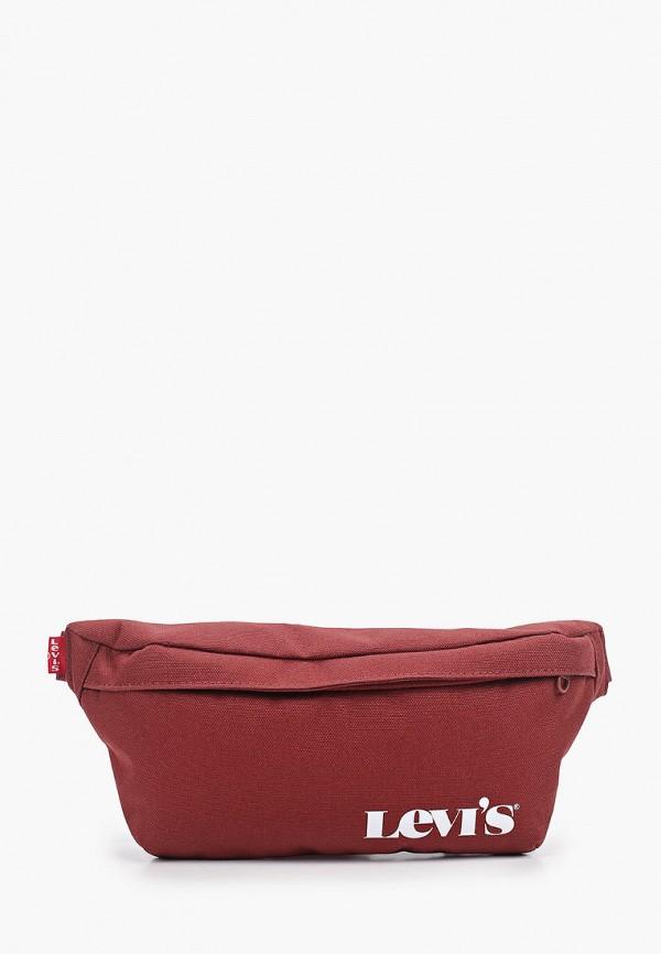 женская сумка levi's®, бордовая