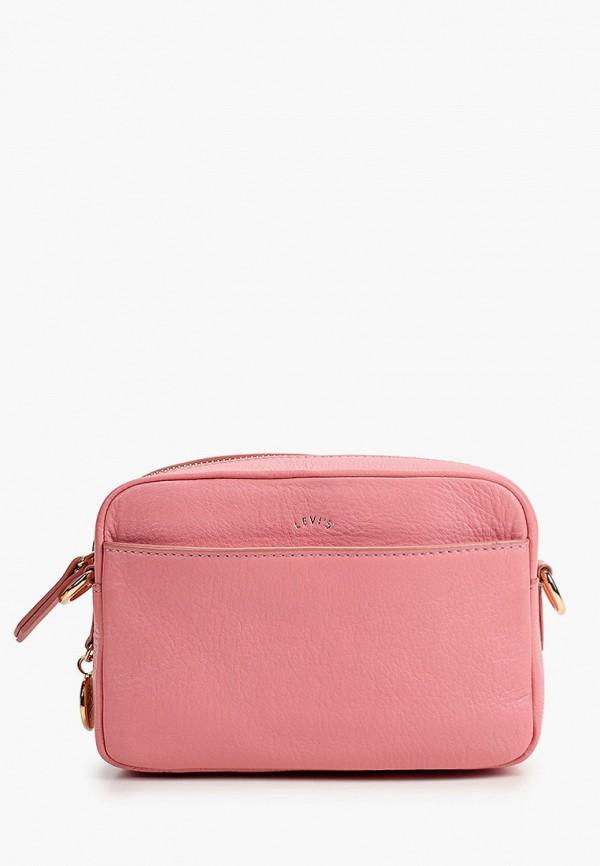 женская сумка через плечо levi's®, розовая