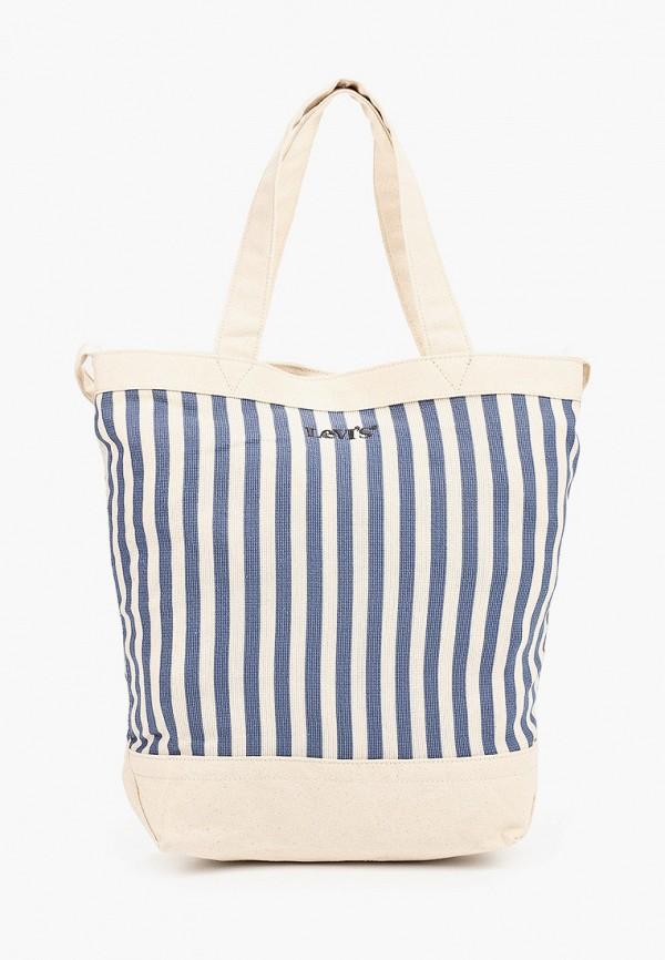 женская сумка с ручками levi's®, синяя