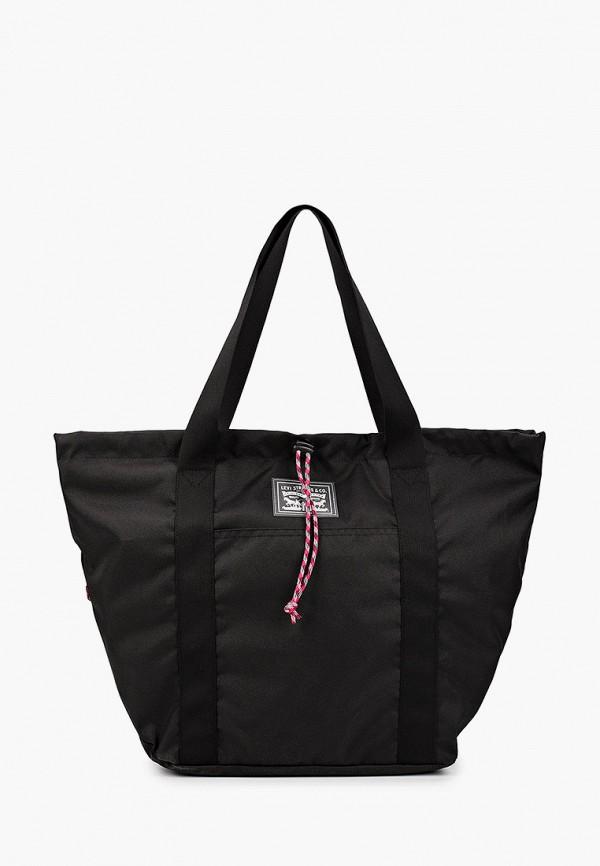 женская сумка-шоперы levi's®, черная