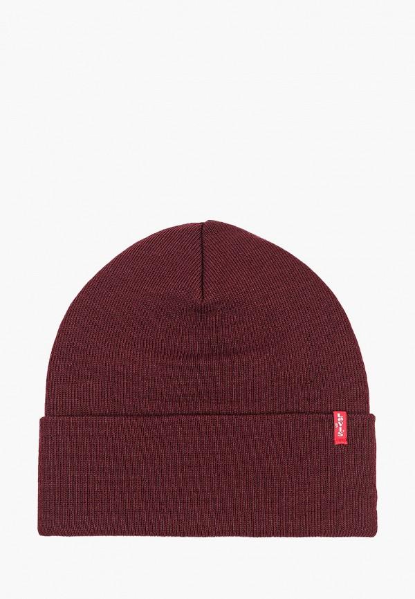 мужская шапка levi's®, бордовая