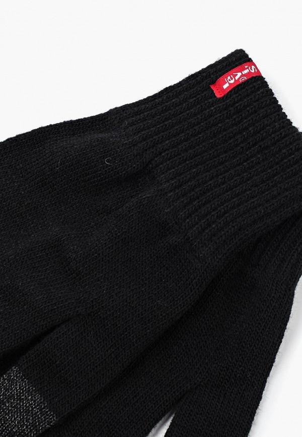 Фото 2 - Перчатки Levi's® черного цвета