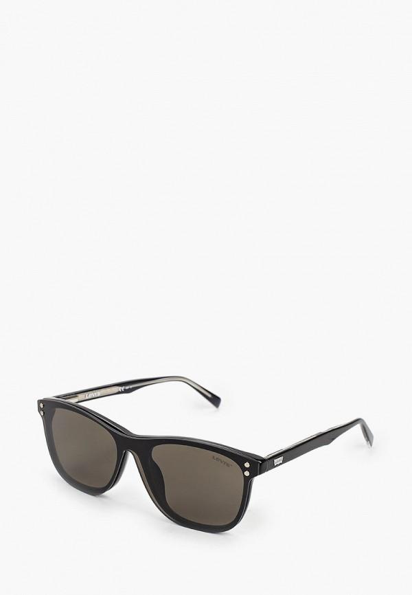 мужские квадратные солнцезащитные очки levi's®, черные