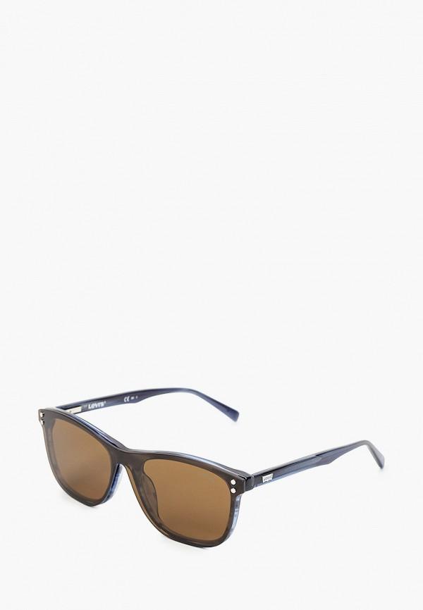 мужские квадратные солнцезащитные очки levi's®, синие