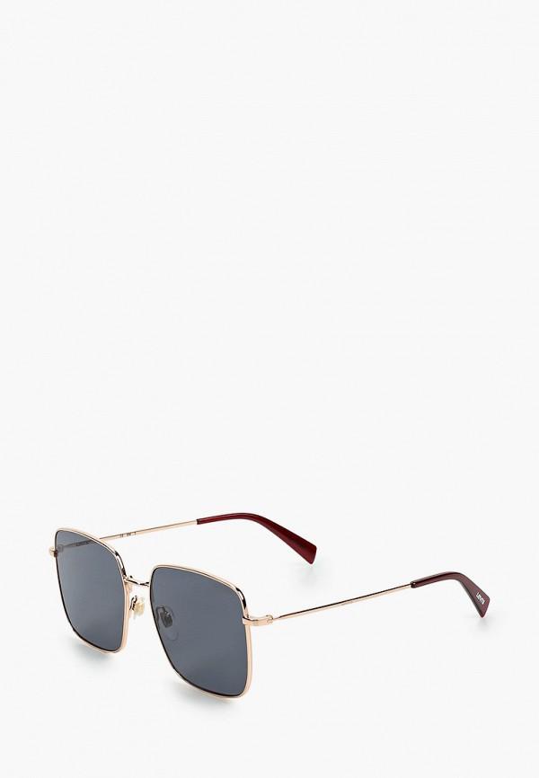 женские солнцезащитные очки levi's®, золотые