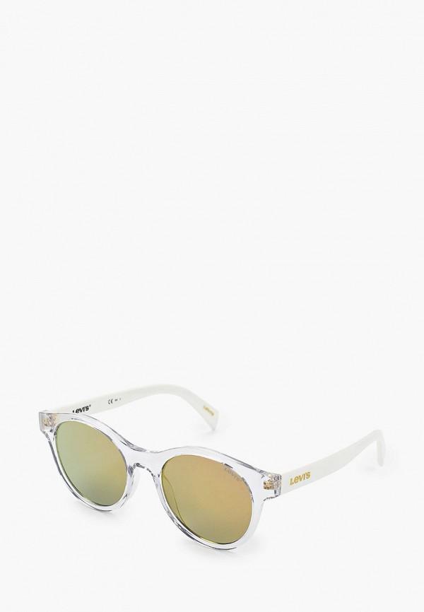 женские круглые солнцезащитные очки levi's®, белые