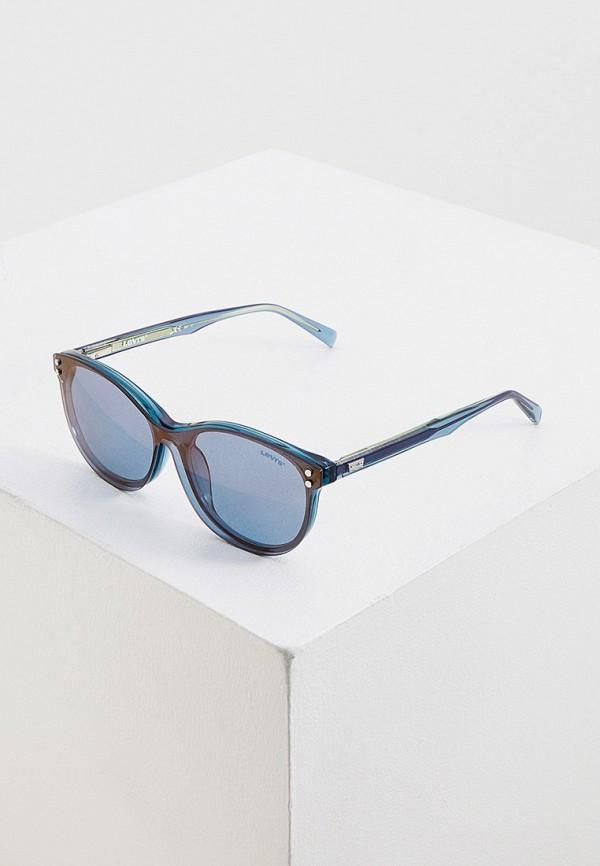 женские круглые солнцезащитные очки levi's®, синие