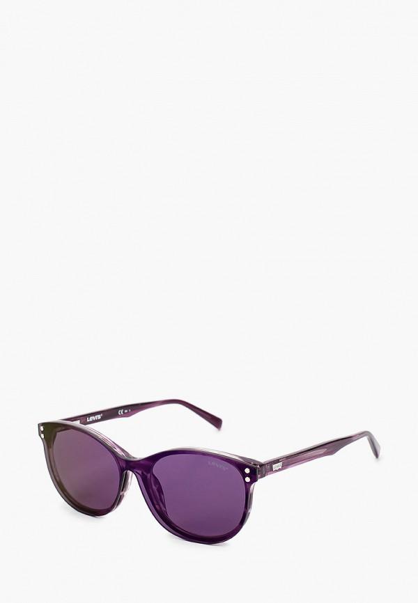 женские круглые солнцезащитные очки levi's®, фиолетовые