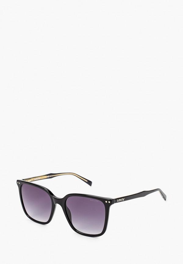 женские квадратные солнцезащитные очки levi's®, черные