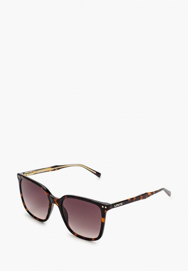 женские квадратные солнцезащитные очки levi's®, коричневые