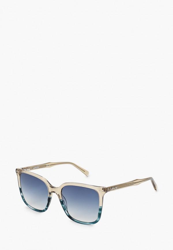 женские квадратные солнцезащитные очки levi's®, разноцветные