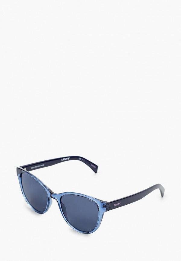 женские круглые солнцезащитные очки levi's®, голубые
