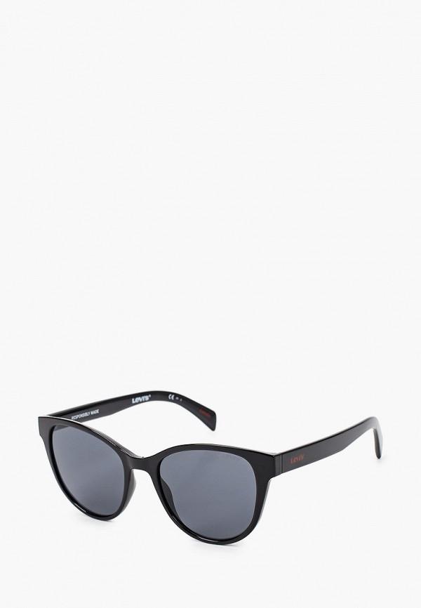 женские круглые солнцезащитные очки levi's®, черные