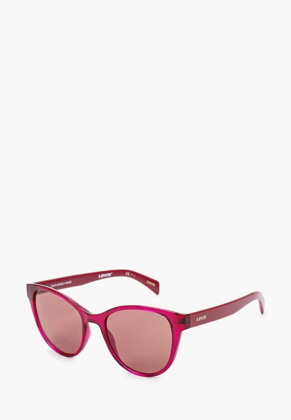 женские круглые солнцезащитные очки levi's®, розовые