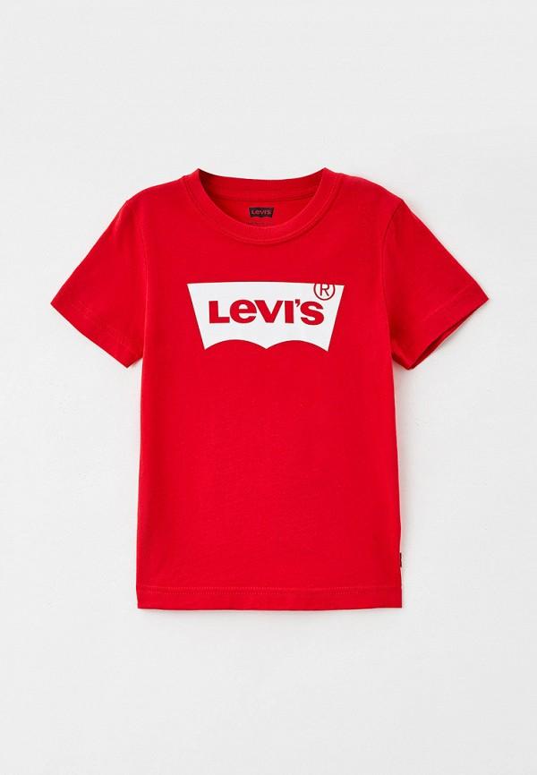 футболка с коротким рукавом levi's® для мальчика, красная
