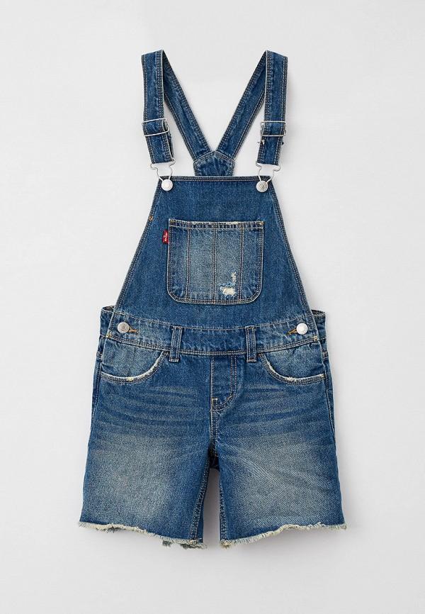 джинсовые комбинезон levi's® для девочки, синий