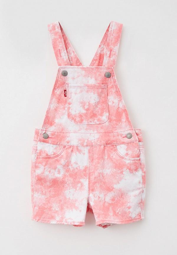 джинсовые комбинезон levi's® для девочки, розовый