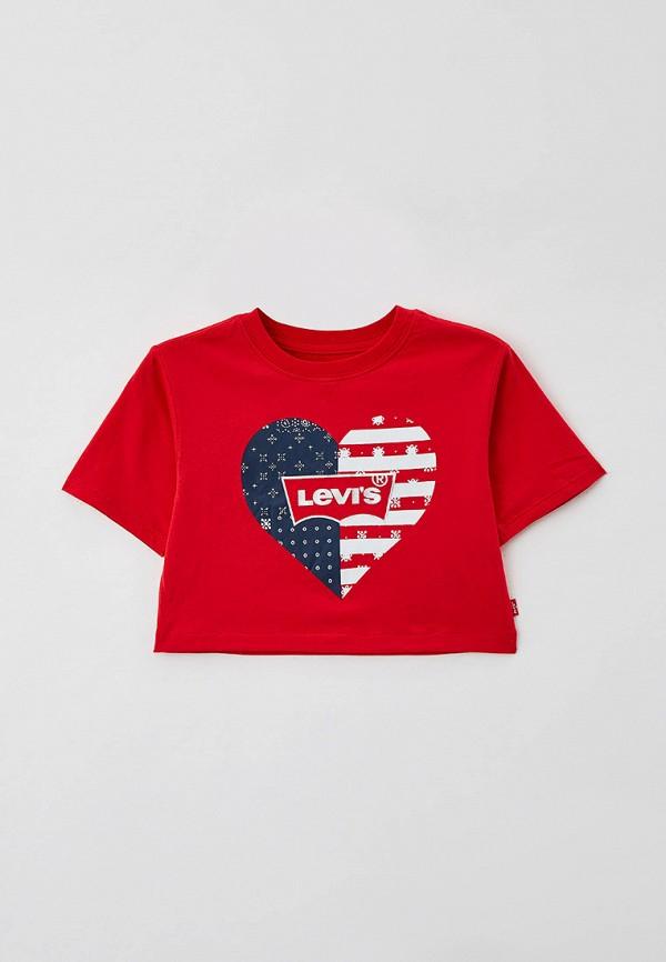 футболка с коротким рукавом levi's® для девочки, красная