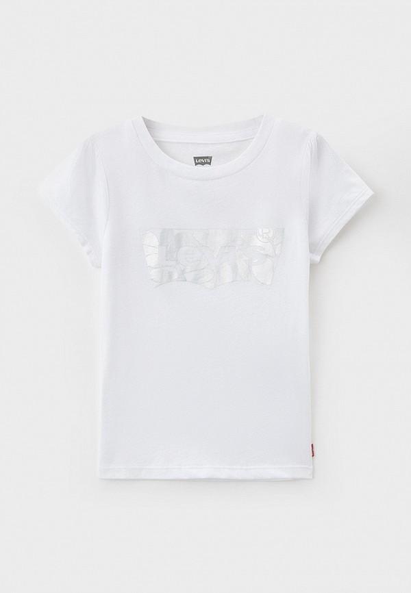 футболка с коротким рукавом levi's® для девочки, белая