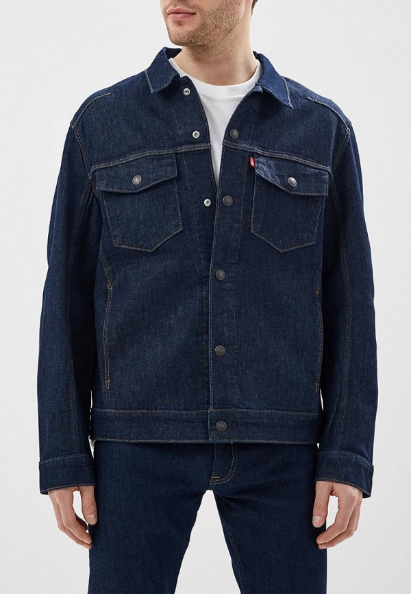 мужская джинсовые куртка levi's®, синяя