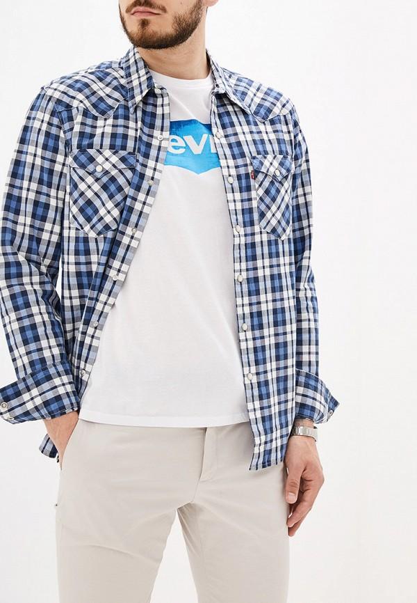 мужская рубашка с длинным рукавом levi's®, синяя