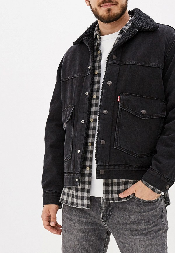 Фото - Куртку джинсовая Levi's® черного цвета