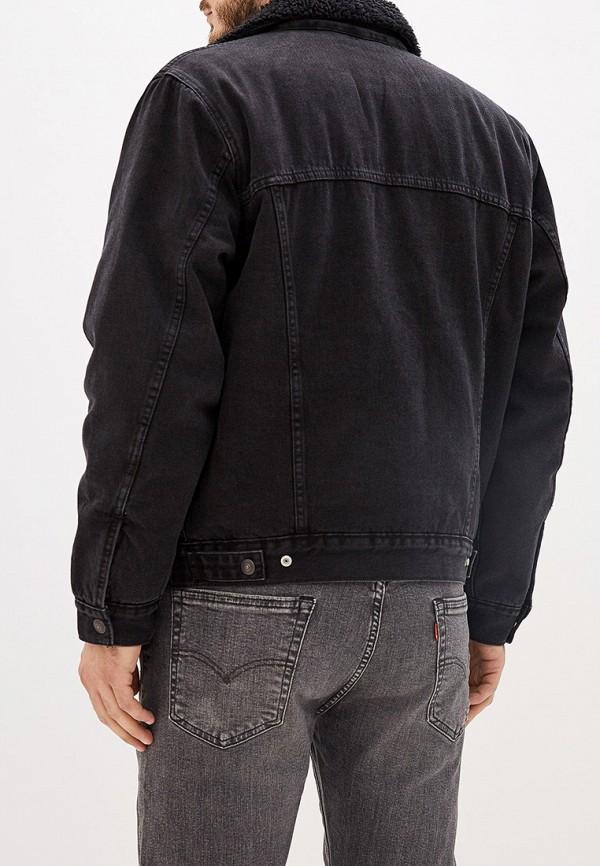 Фото 3 - Куртку джинсовая Levi's® черного цвета