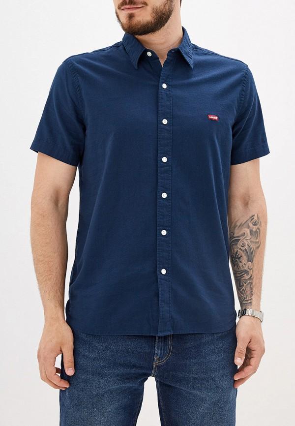 мужская рубашка с коротким рукавом levi's®, синяя