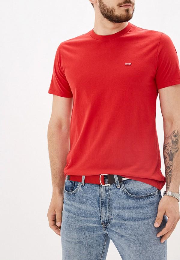 мужская футболка с коротким рукавом levi's®, красная