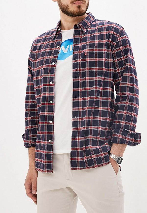 мужская рубашка с длинным рукавом levi's®, красная