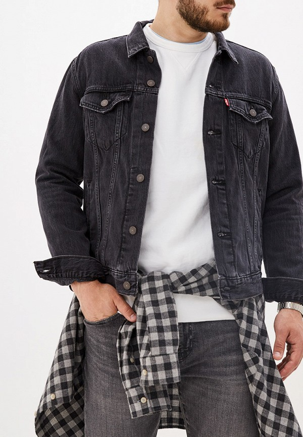 мужская джинсовые куртка levi's®, черная