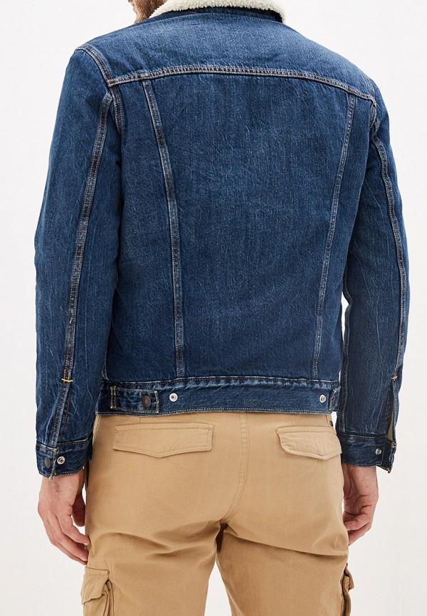 Фото 3 - Куртку джинсовая Levi's® синего цвета