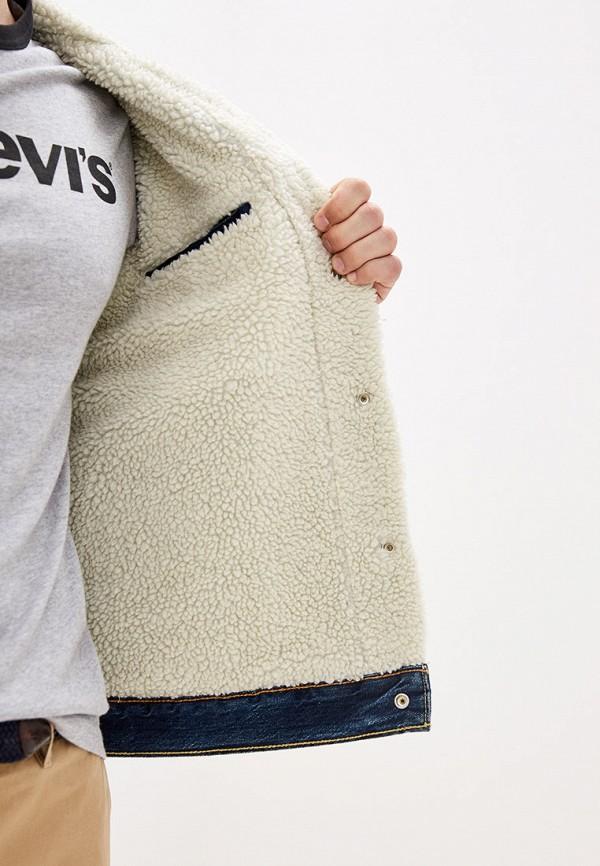 Фото 4 - Куртку джинсовая Levi's® синего цвета
