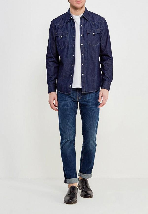 Фото 2 - Рубашку джинсовая Levi's® синего цвета
