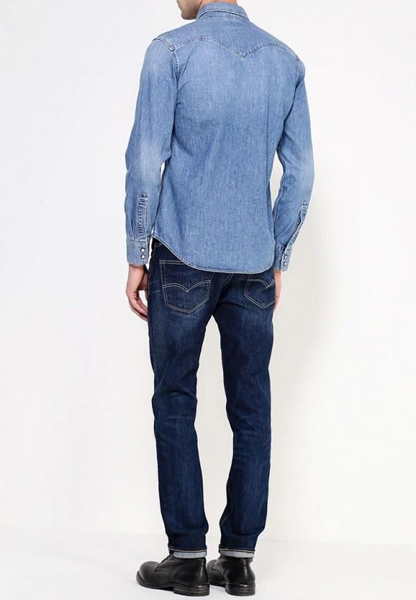 Фото 3 - Рубашку джинсовая Levi's® синего цвета