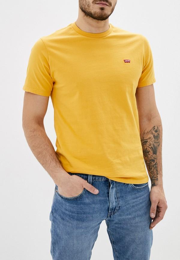 мужская футболка с коротким рукавом levi's®, желтая