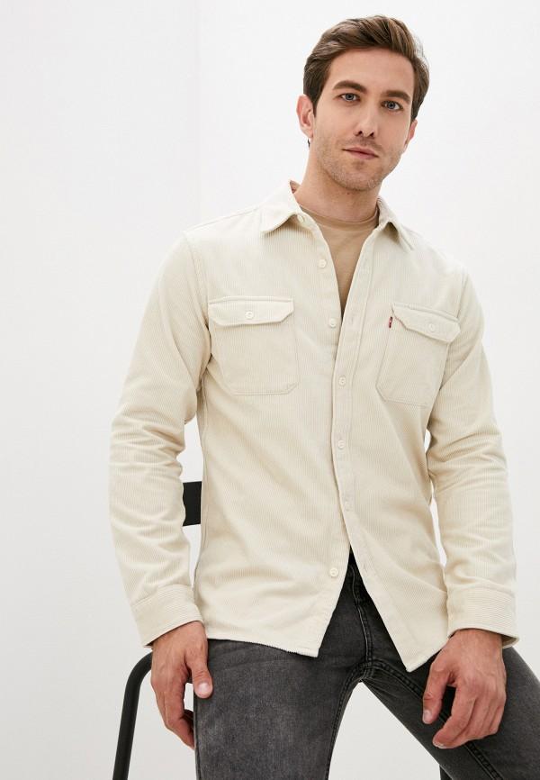 мужская рубашка с длинным рукавом levi's®, бежевая