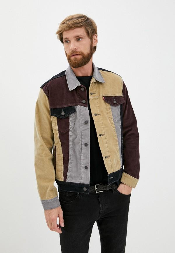 мужская джинсовые куртка levi's®, разноцветная