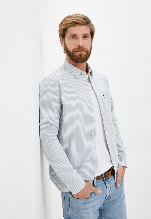 мужская рубашка с длинным рукавом levi's®, голубая