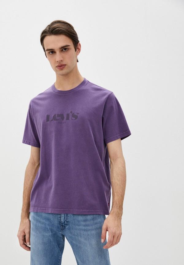 мужская футболка с коротким рукавом levi's®, фиолетовая