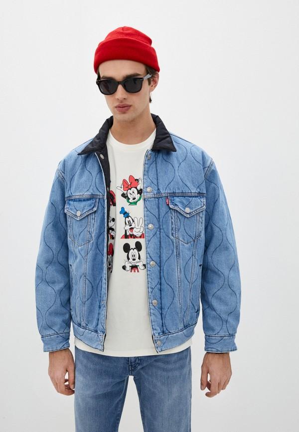 мужская джинсовые куртка levi's®, голубая