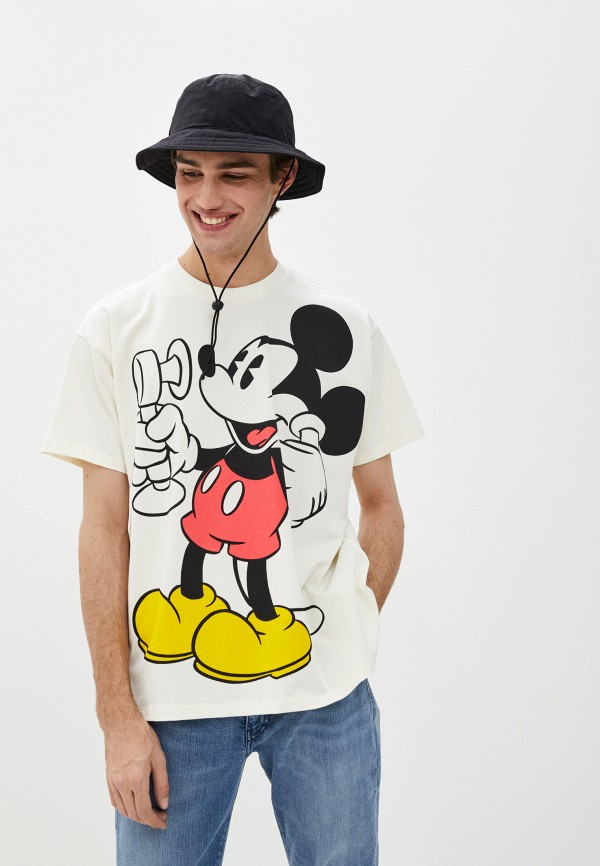 мужская футболка с коротким рукавом levi's®, бежевая
