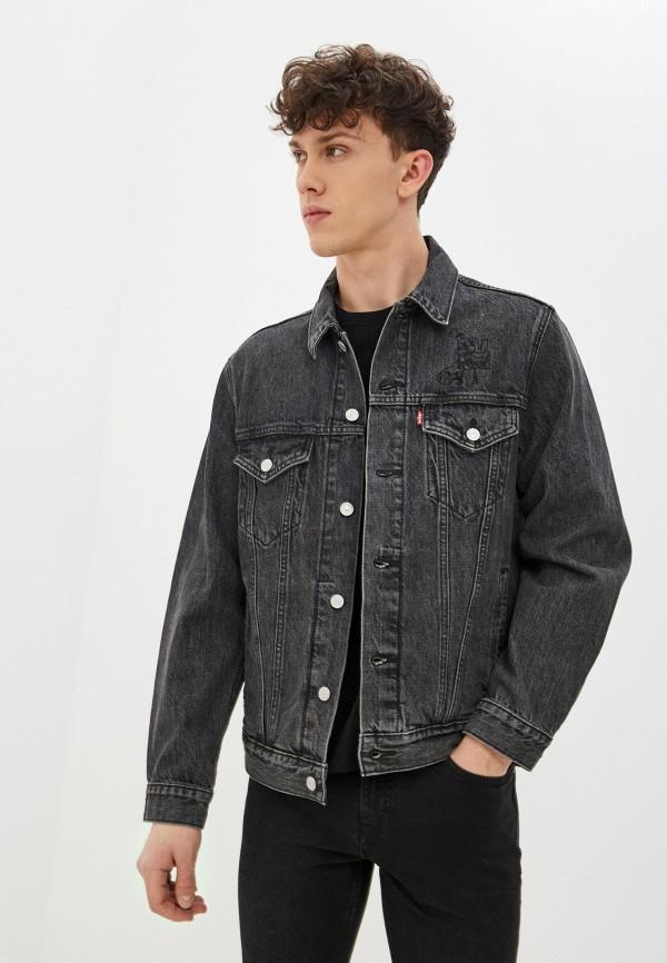мужская джинсовые куртка levi's®, серая